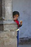 Flicka Cuzco Arkivbild