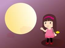 flicka för 2 blommor royaltyfri illustrationer
