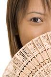 flicka för 2 ventilator arkivfoton