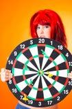 flicka för 5 dartboard Royaltyfri Bild