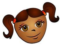 flicka för afrikansk amerikankonstgem Royaltyfria Bilder
