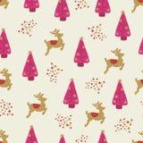 Flicka för bakgrund för vektor för julferier sömlös stock illustrationer