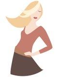 flicka för blondin 2 Arkivbild