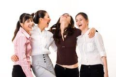 flicka för fyra vänner Arkivfoto