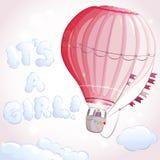Flicka för luftballong Fotografering för Bildbyråer