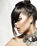 Flicka för modeglamourskönhet Royaltyfri Fotografi