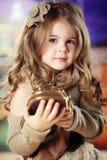 flicka för skönhetbarnmode Arkivfoton