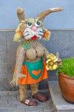 Flicka för sugrörglamourhare Arkivfoton