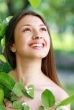 Flicka för vårskönhet Arkivbild