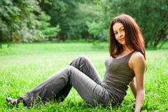 Flicka för vårskönhet Fotografering för Bildbyråer