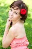 Flicka för vårskönhet Royaltyfri Foto
