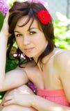 Flicka för vårskönhet Arkivbilder