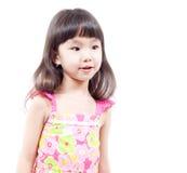 flicka förvånad little Arkivbild