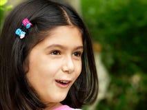 flicka förvånad little arkivfoto