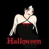 flicka halloween Arkivbild