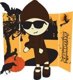 flicka halloween Royaltyfri Bild