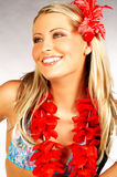 flicka hawaii Royaltyfri Bild