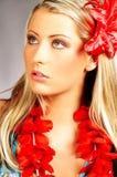 flicka hawaii Royaltyfria Foton