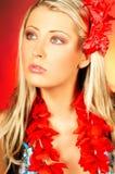 flicka hawaii Royaltyfri Foto