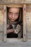 flicka henne som är älsklings- Arkivfoto