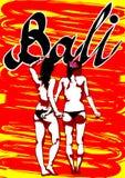 Flicka i Bali två Royaltyfri Fotografi