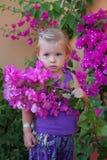 Flicka i blommor Royaltyfri Foto