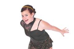 Flicka i dansdräkter Royaltyfria Bilder
