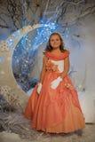 Flicka i den felika skogen Royaltyfri Foto