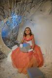 Flicka i den felika skogen Royaltyfria Foton