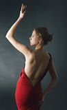 Flicka i det rött Royaltyfria Bilder