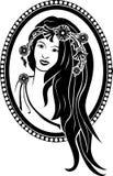 Flicka i en kran Royaltyfri Fotografi