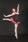 Flicka i ett baletthopp Royaltyfri Foto