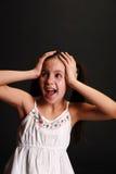 Flicka i förtvivlan Royaltyfria Bilder