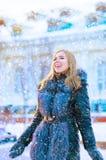 Flicka i frost Royaltyfria Bilder