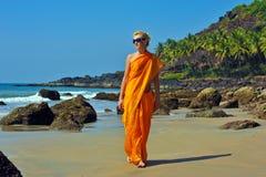Flicka i Goa arkivbild
