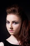Flicka i gotisk bild Royaltyfri Fotografi