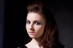 Flicka i gotisk bild Royaltyfri Bild