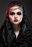 Flicka i gotisk konststil Arkivfoton