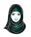 Flicka i hijab royaltyfri illustrationer