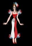 Flicka i karnevaldräkt Royaltyfri Fotografi