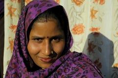 Flicka i Kathmandu, nepal Arkivbilder