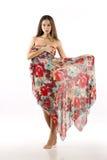 Flicka i klänning Arkivfoto