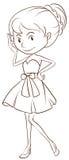 Flicka i klänning Arkivbild