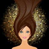 Flicka i klubban Royaltyfri Bild