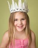 Flicka i krona, prinsessa Arkivbilder
