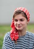 Flicka i näsduk Royaltyfri Bild