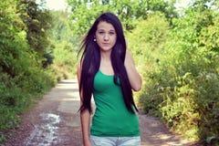 Flicka i natur Royaltyfri Bild