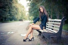 Flicka i park Arkivfoton