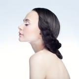 Flicka i profil Royaltyfria Bilder