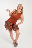 Flicka i röd klänning Royaltyfri Bild